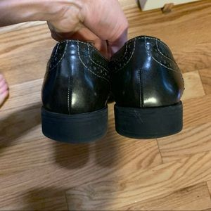 Christian Siriano Shoes - Black wingtip Oxford shoes